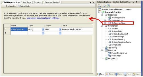 Pohranjivanje stringa u config datoteku