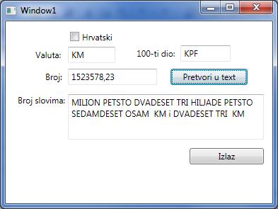 WPF aplikacija
