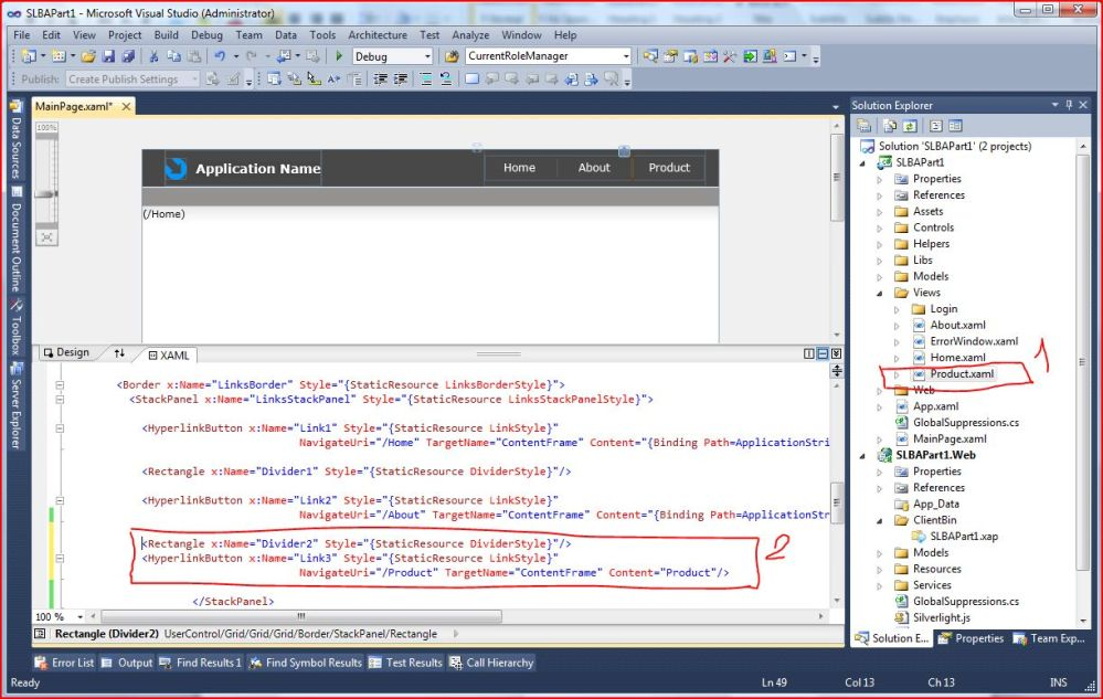 Silverlight 4 Business Application Part 1 of n (4/6)