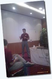 Damir Dobrić u žaru predavanja
