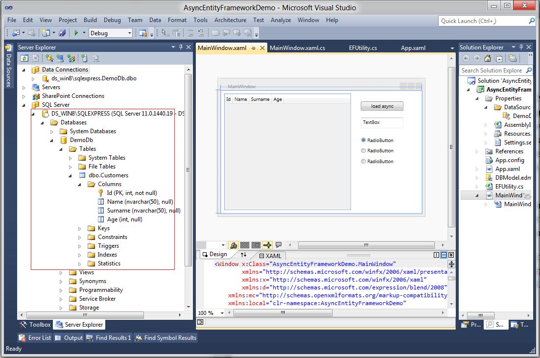Asynchronous Call of Entity Framework in C# 5 0 | Bahrudin
