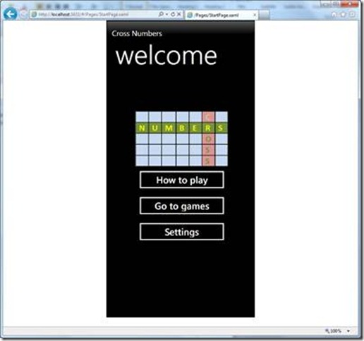 CrossNumber- puzzle with numbers for WP7, Silverlight, Android and