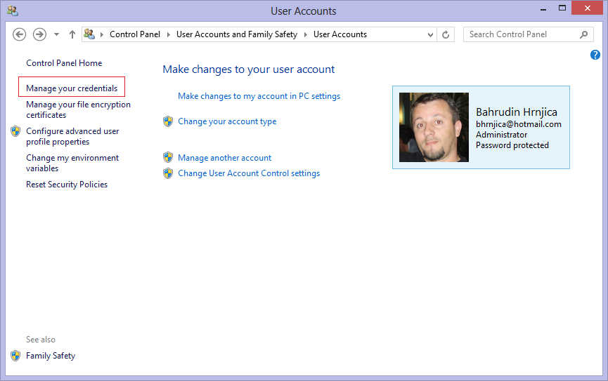 How to change TFS user name and password in Visual Studio