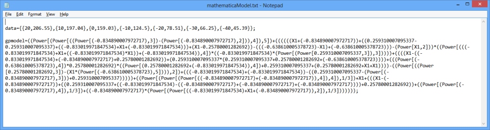 Export GPdotNET Model in to Mathematica (3/6)