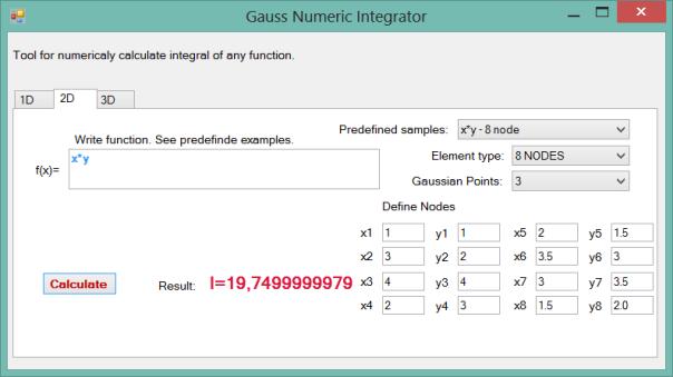 gaussNumericintegrator