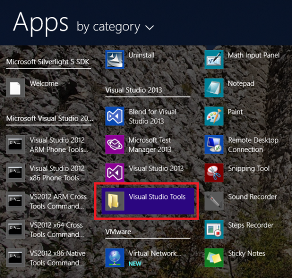 visualStudio2013Tools
