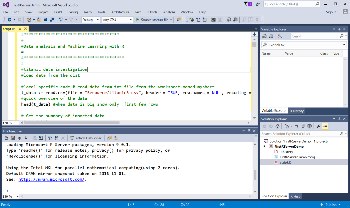 Introduction to Microsoft Machine Learning package in