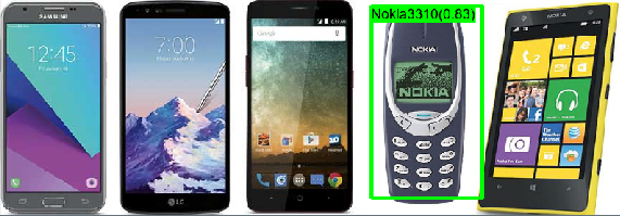 Nokia3310 object detection result